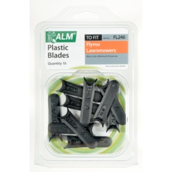 ALM Plastic Blades -  with Small Half-Moon Pack of 10