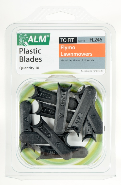 ALM Plastic Blades -  with Small Half-Moon - Pack of 10
