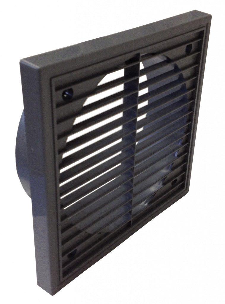 "Manrose Fixed Grill + Spigt 6"" - Grey"