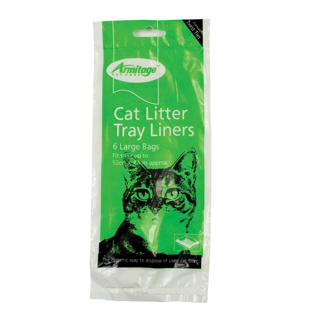Armitage Good Girl Cat Litter Liners - Green Large 6 Pack