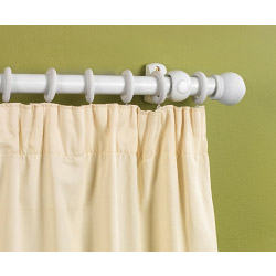SupaDec White Finish Wooden Curtain Pole - 300cm, 28mm diameter