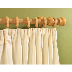 SupaDec Wooden Curtain Pole Beech Effect - 300cm, 28mm diameter