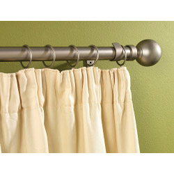 SupaDec Silver Metal Extending Curtain Pole - 120cm-210cm, 16-19mm diameter