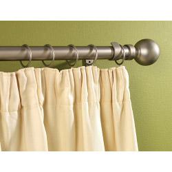 Woodside Silver Metal Extending Curtain Pole - 120cm-210cm, 16-19mm diameter