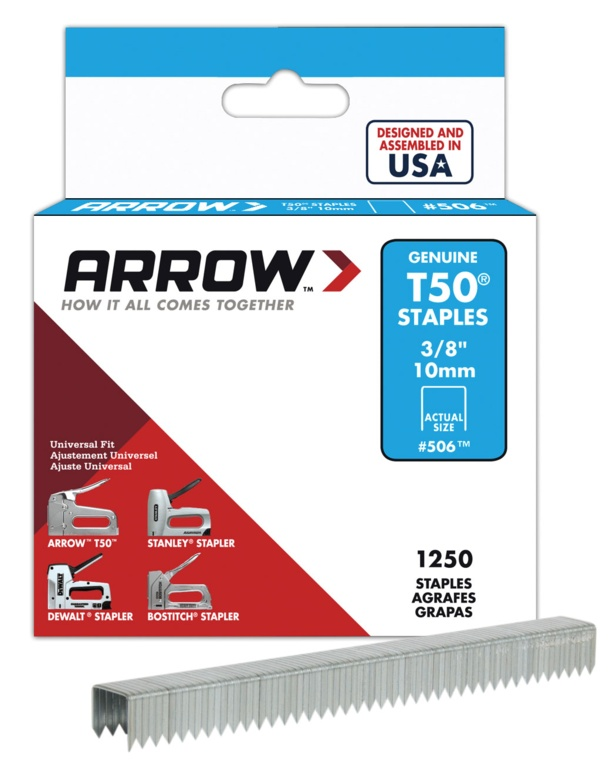 Arrow T50 Staples - 10mm (1250)