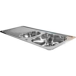 SupaPlumb Reversible 1.5 Bowl Sink - 1 Tap