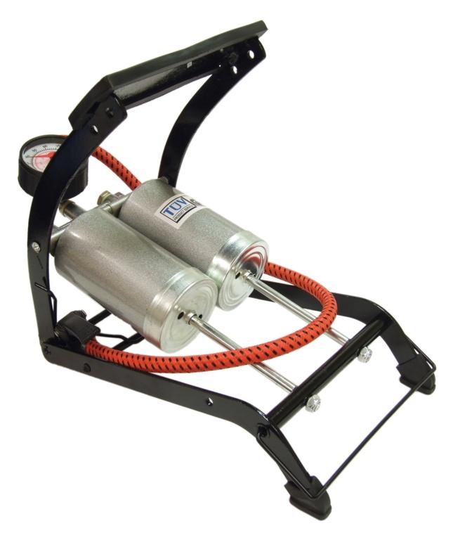 Streetwize Foot Pump Deluxe - Double Barrel