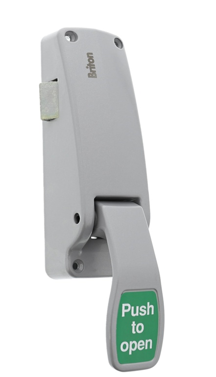Briton Push Pad Emergency Exit Latch - Silver