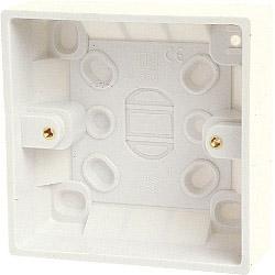 Dencon Single Gang Box (inside 28mm, outside 32m)