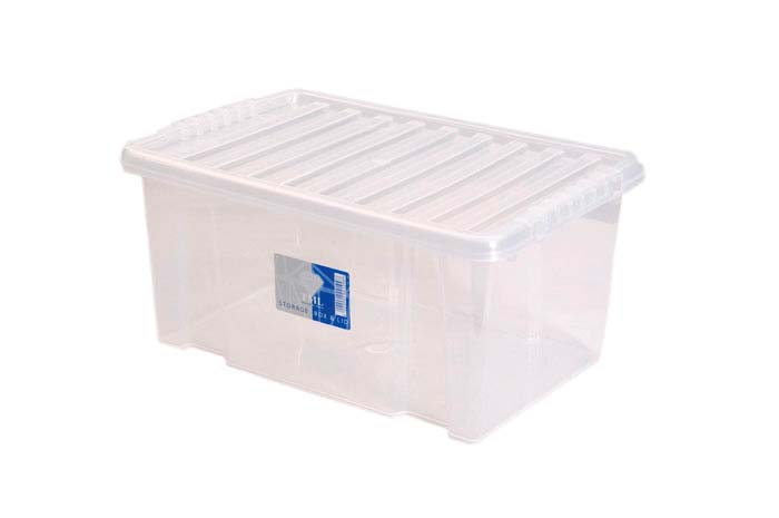TML Storage Box & Black Lid - 7L Clear