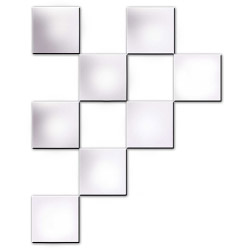 """Innova 8 Pack Square Mirror Tiles with Self Adhesive Pads - 6 x 6"""""""