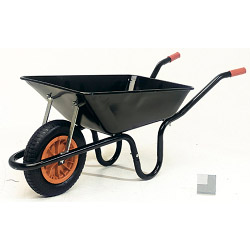Parasene Heavy Duty Contractors Wheelbarrow With Pneumatic Tyre - 90L