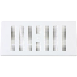 "Map White Adjustable 'Hit & Miss' Vent (with Fixed Flyscreen) - Opening Size: 6"" x 3""  152 x 76mm"