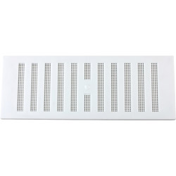 "Map White Adjustable 'Hit & Miss' Vent (with Fixed Flyscreen) - Opening Size: 9"" x 3"" - 229 x 76mm"