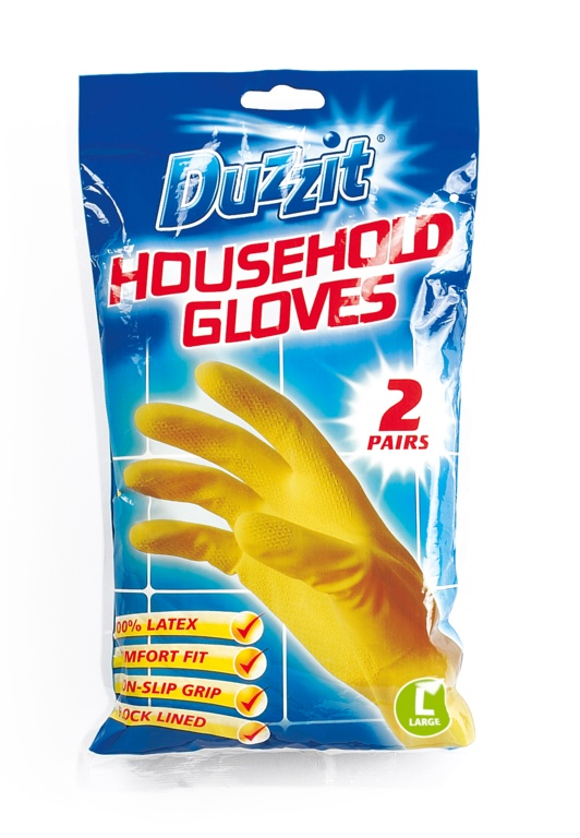 Duzzit Latex Gloves Pack 2 - Large