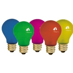 Dencon Essential Base 2 x Red, 2 x Blue, 2 x Yellow, 2 x Green & 2 x Pink - 25w Pack Of 10