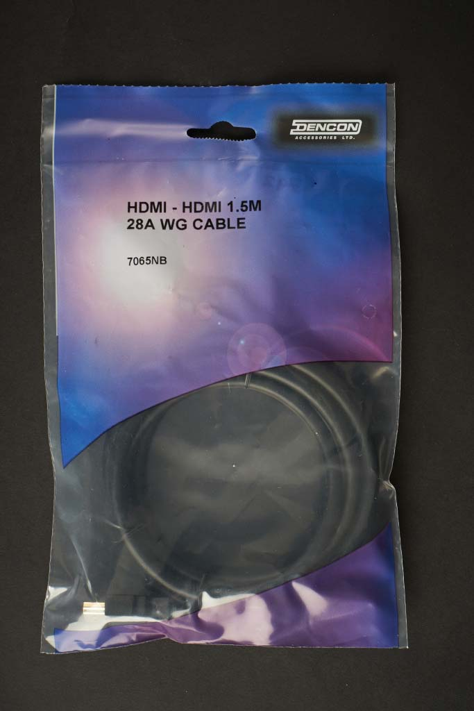 Dencon HDMI 1.5m 28AWG Cable - Bubble Packed