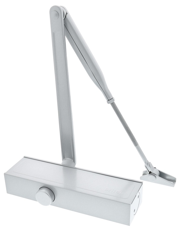 Briton Template Adjustable Door Closer - Silver