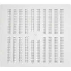 "Map White Adjustable 'Hit & Miss' Vent (with Fixed Flyscreen) - Opening Size: 9"" x 9"" - 229 x 229mm"