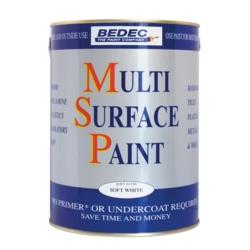 Bedec Multi Surface Paint Gloss Soft White 750ml