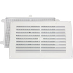 "Map White Louvred Vent (with Removable Flyscreen) - Opening Size: 9"" x 6"" - 229 x 152mm"