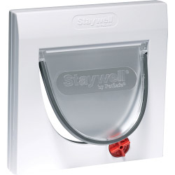 Petsafe Manual 4 Way Locking Classic Cat Flap - White with out Tunnel