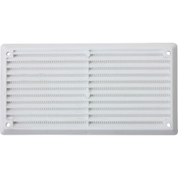 "Map White Louvred Vent (with Fixed Flyscreen) - Opening Size: 6"" x 3""  152 x 76mm"