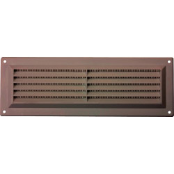 "Map Brown Louvred Vent (with Fixed Flyscreen) - Opening Size: 9"" x 3"" - 229 x 76mm"