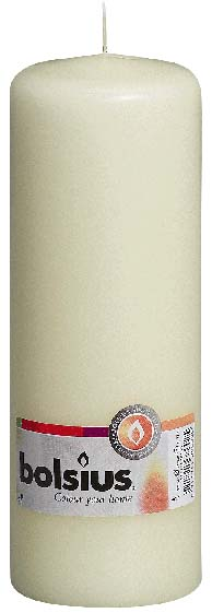 Bolsius Pillar Candle - 200mm x 70mm Ivory