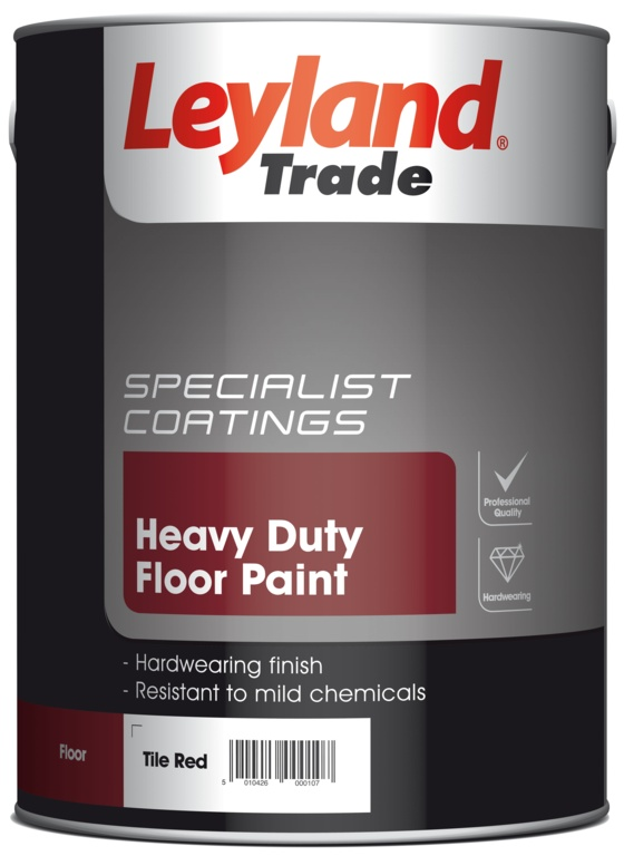 Leyland Trade Heavy Duty Floor Paint 5L - Tile Red