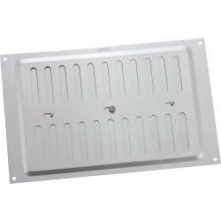 "Map Adjustable 'Hit & Miss' Aluminium Vents - Silver - Opening Size: 9"" x 6"" - 229 x 152mm"