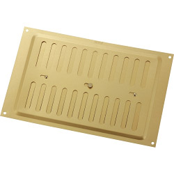 "Map Adjustable 'Hit & Miss' Aluminium Vents - Gold - Opening Size: 9"" x 6"" - 229 x 152mm"