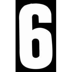 "Classic Designs 3"" White Number - 6/9 Digit Pack 5"
