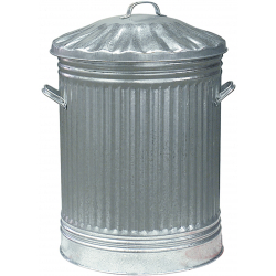 Ambassador Galvanised Bin with Steel Lid