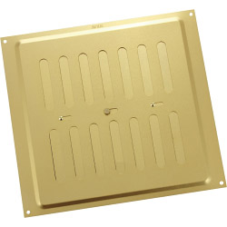 "Map Adjustable 'Hit & Miss' Aluminium Vents - Gold - Opening Size: 9"" x 9"" - 229 x 229mm"