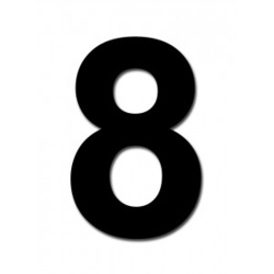 "Classic Designs 3"" Black Number - 8 Digit Pack 5"