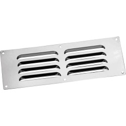 "Map Louvred Stainless Steel Vents - Chrome - Opening Size: 9"" x 3"" - 229 x 76mm"