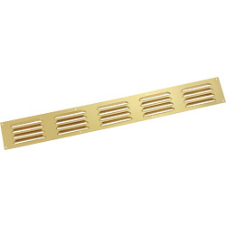 "Map Louvred Door Vents - Aluminium - Gold - Opening Size: 18"" x 2"" - 466 x 51mm"