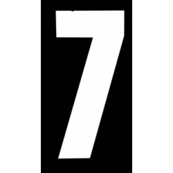 "Classic Designs 3"" White Number - 7 Digit Pack 5"