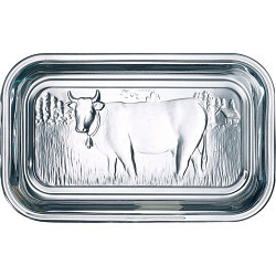 Luminarc Cow Butter Dish with Lid - Clear