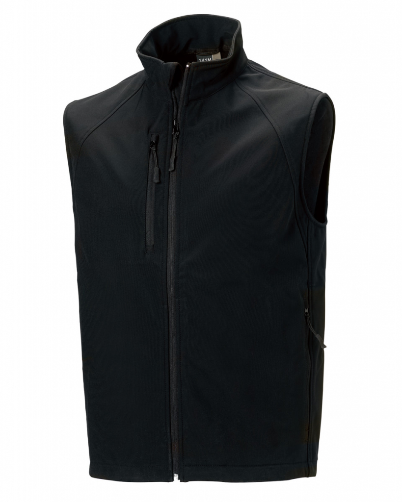 Workhouse Two Gents Softshell Gilet Black - L