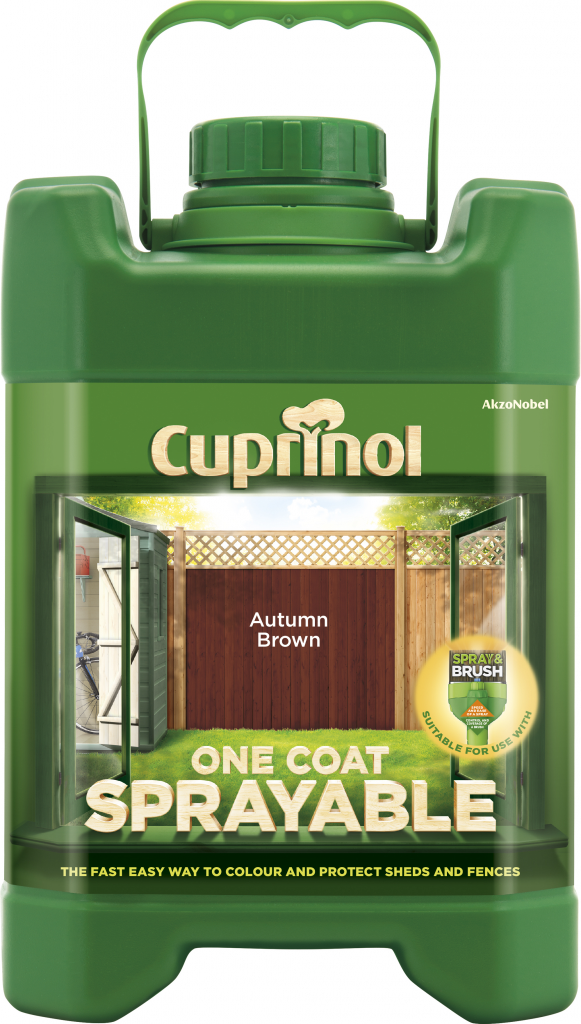 Cuprinol sprayable fence treatment 5l stax trade centres for Sprayable exterior masonry paint