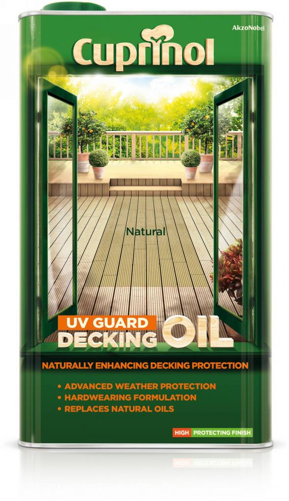 Cuprinol UV Guard Decking Oil 5L - Natural Oak
