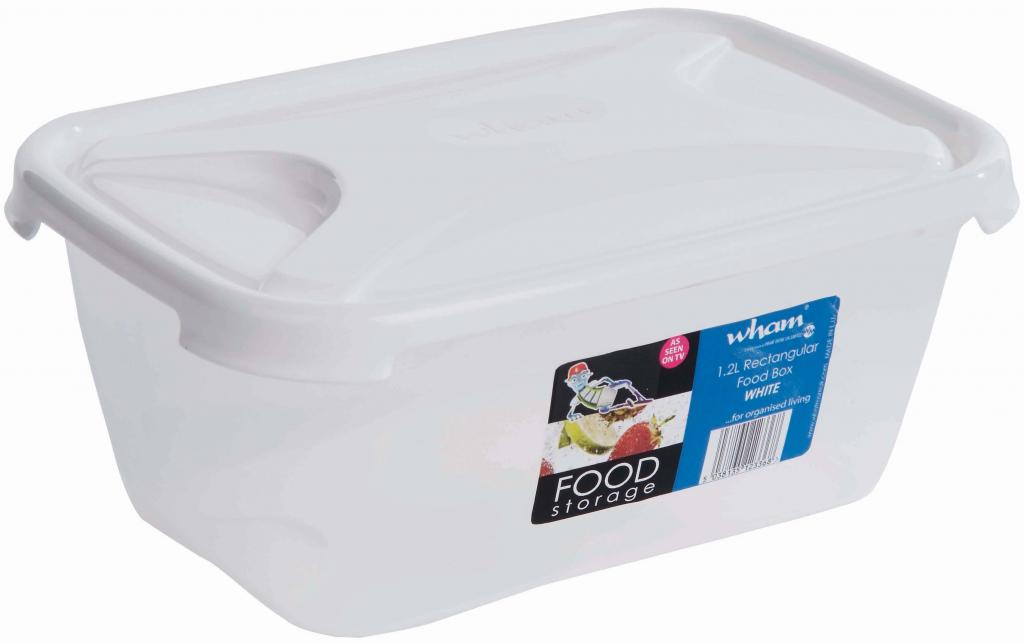 Wham Rectangular Food Storage White - 1.2L