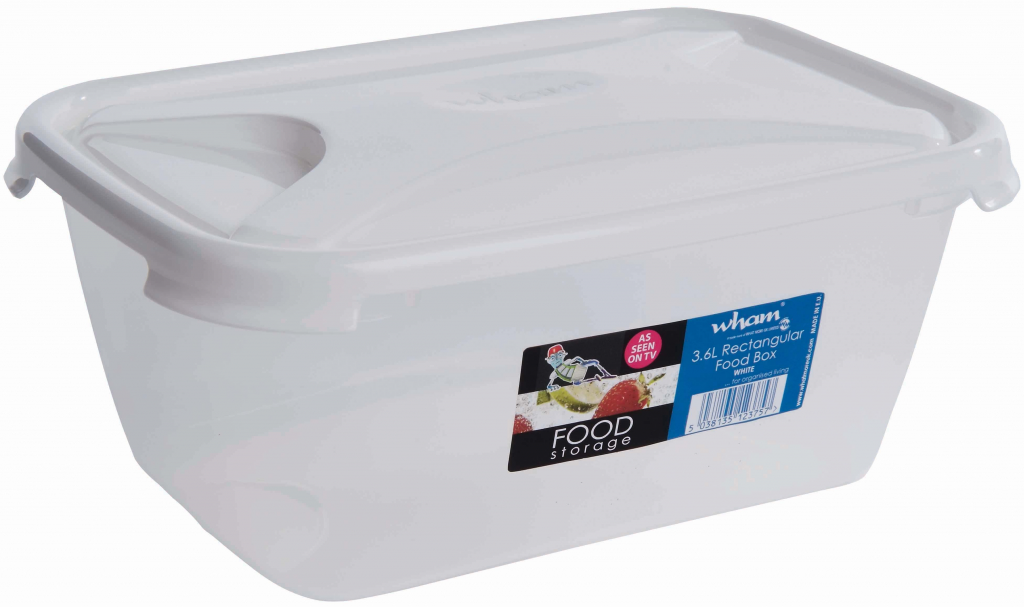 Wham Rectangular Food Storage White - 3.6ltr