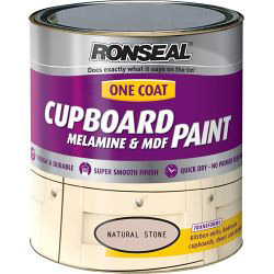 Ronseal One Coat Cupboard Melamine & MDF Paint 750ml - Ivory