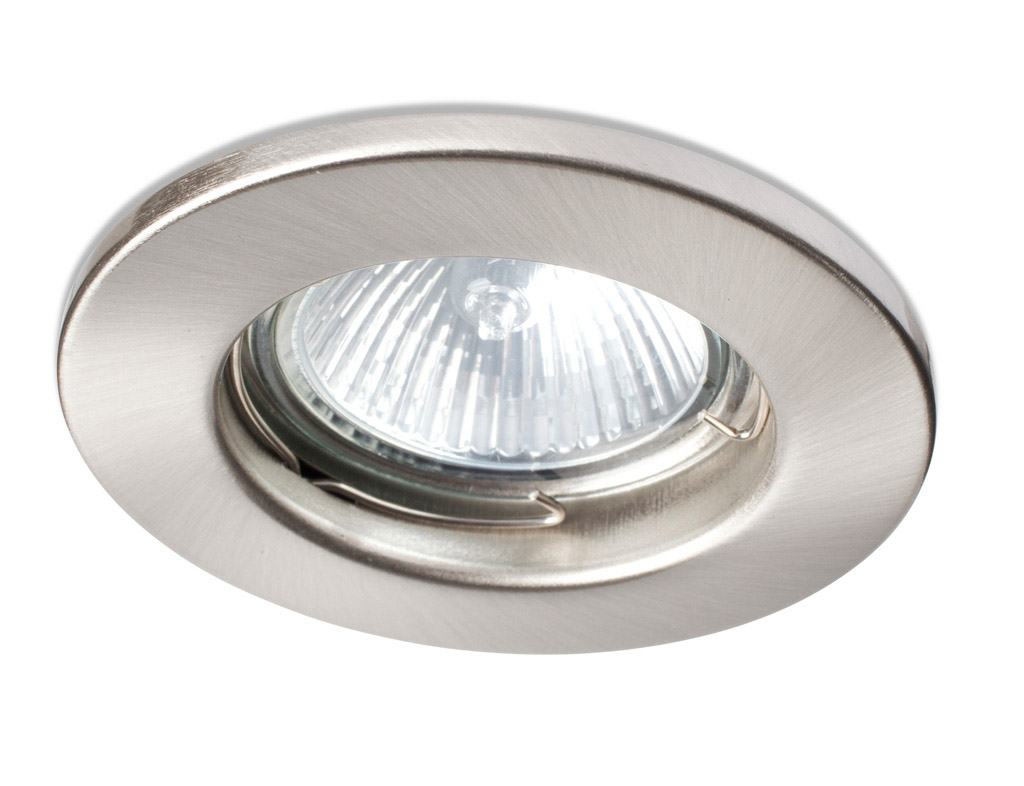 Robus COMPACT 50W Mains Voltage Dimmable Downlight - 72mm Satin Chrome