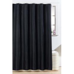 Blue Canyon Polyester Glitter Bling Design Shower Curtain - White