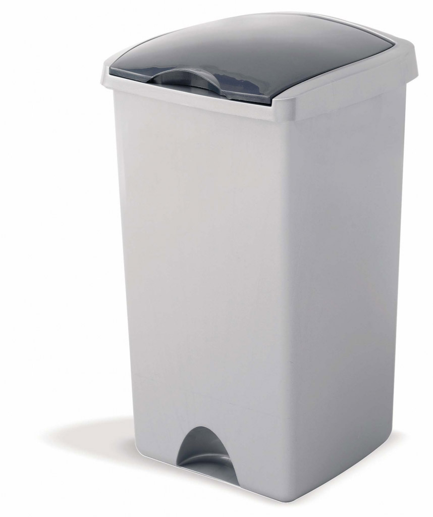 Addis Lift Top Bin - 48L Metallic