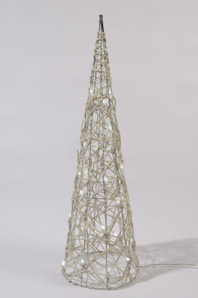 Kaemingk LED Wicker Pyramid Cool White - 90cm